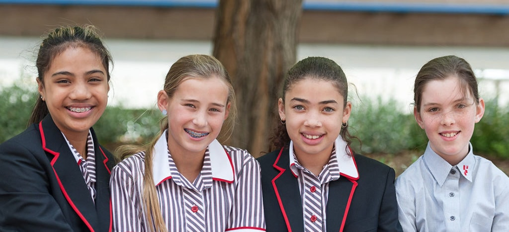 Footscray High School - Students Outside Smiling