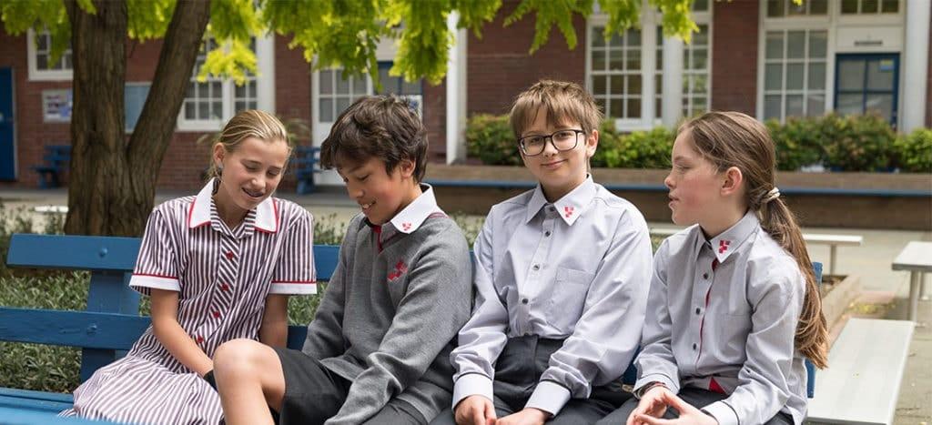 Footscray High School - Students Talking Outside