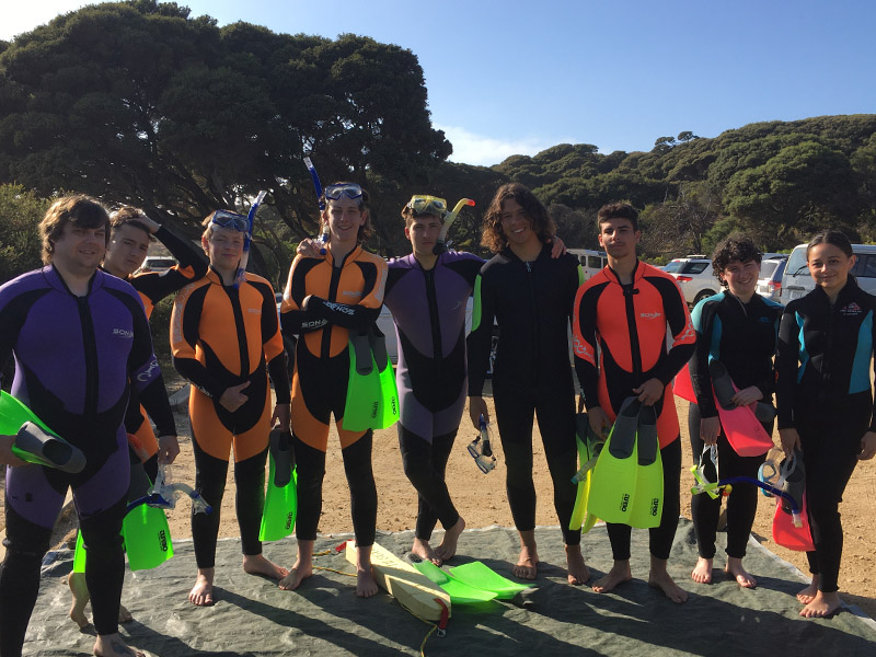 Students in scuba gear