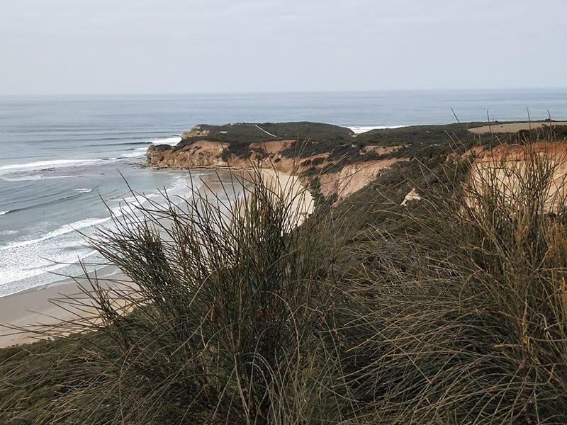 Coast & cliffs overlooking the ocean